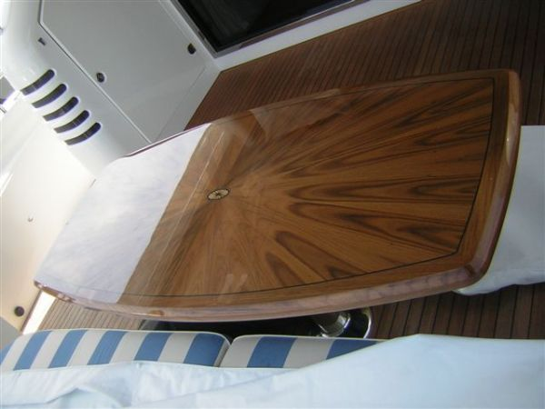 Custom Teak Cockpit Table
