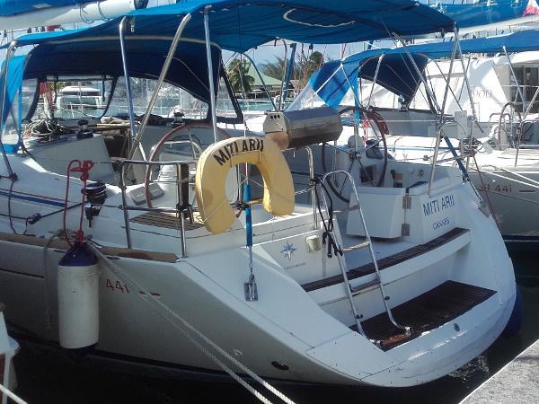 Jeanneau Sun Odyssey 44i Miti Arii at dock