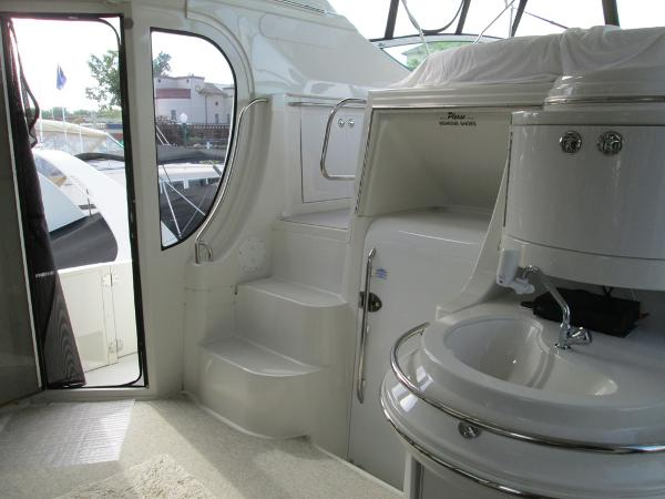Aft Deck, looking Port, Stairs to Flybridge