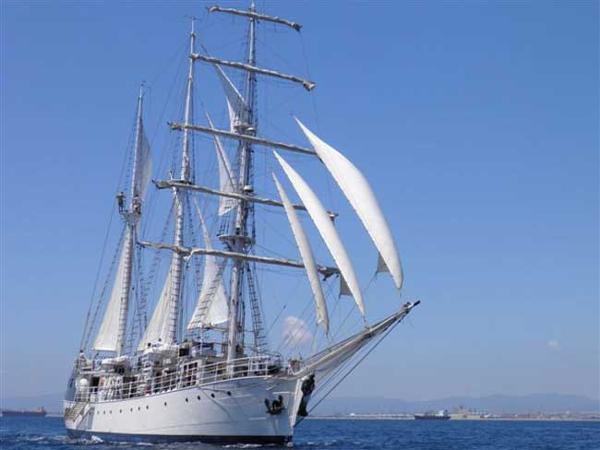 Tall Ship Brigantine Full Sail
