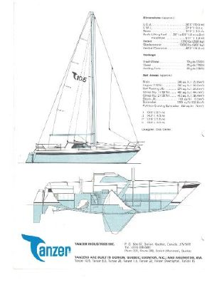 Tanzer 10.5 Pilothouse line drawing