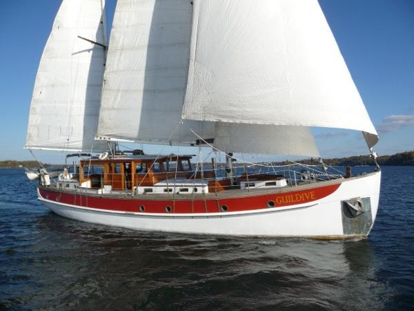 William Hand Pilothouse, twin headsail ketch