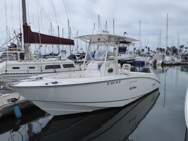 Boston Whaler 240 Outrage Boston Whaler 240 Outrage in slip