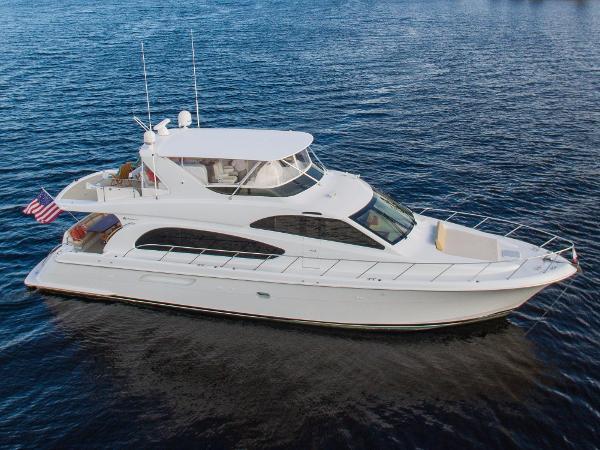 Hatteras 64 Motor Yacht Starboard Aerial Photo