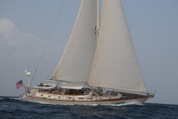 60 ft 1982 Gulfstar 60 MK1  Port tack