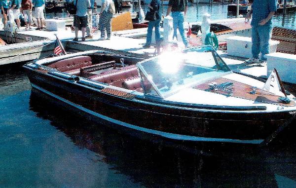 Century Coronado at boat show