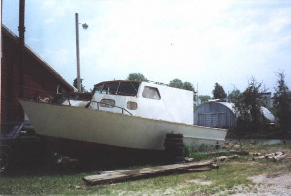 Brown Fishing Charter Boat