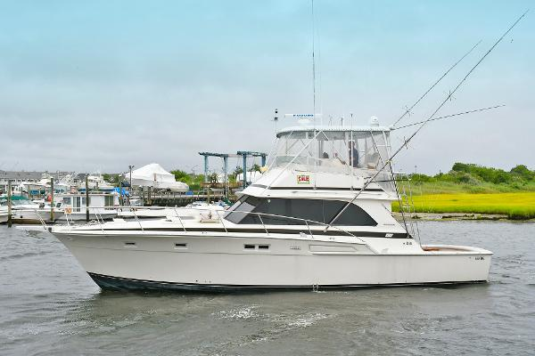 Bertram 46 Convertible Port Side