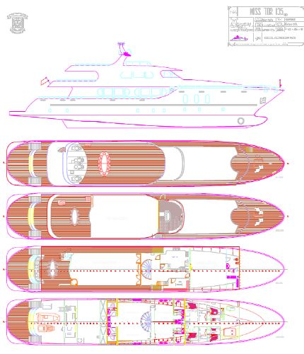Miss Tor Yacht Custom 135 Layout