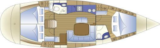 Manufacturer Provided Image: 3 Cabin Layout Plan