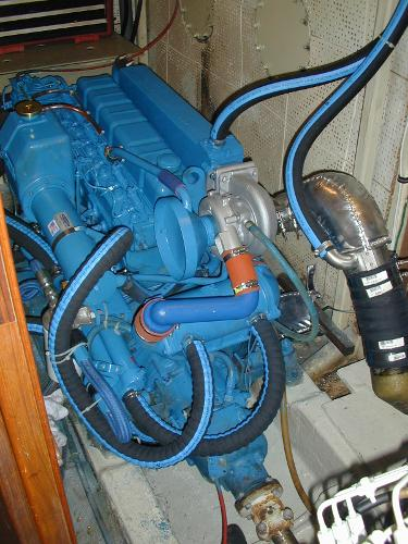 Starboard Perkins 165 hp engine
