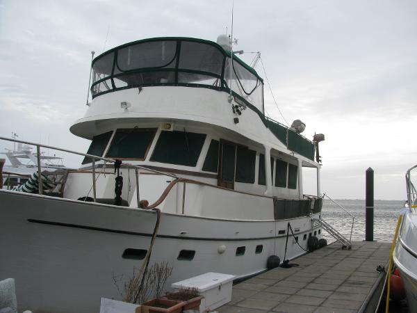 Port side view at dock