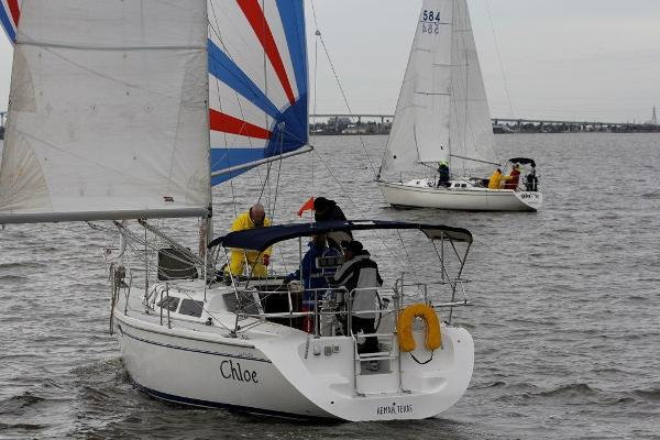 Catalina 320 Under Way with Spinnaker