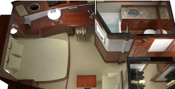 Conrad Barge 70 master cabin