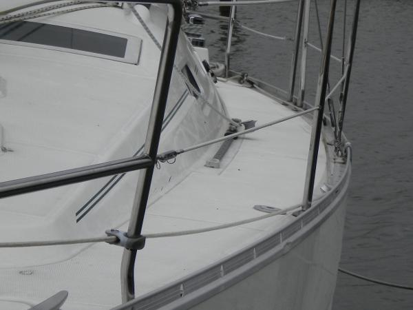 port deck, looking aft