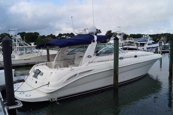 Sea Ray 410 Sundancer 2000 SEA RAY 410 SUNDANCER DOCKSIDE PROFILE