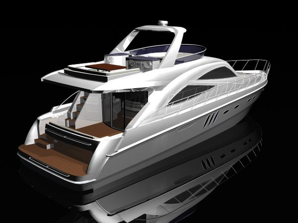 Sealine Moulds and Production Pack T60 Sealine T60 Stern View