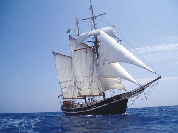 Tallship Gaff Rigged Topsail Schooner Photo 1