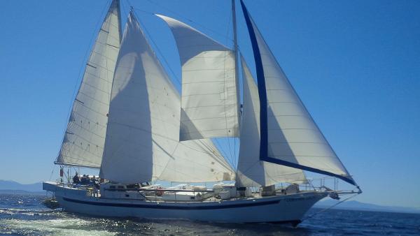 Custom Steel Schooner Staysail