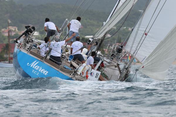 Sparkman & Stephens Flush Deck Sloop MAREA Under Sail