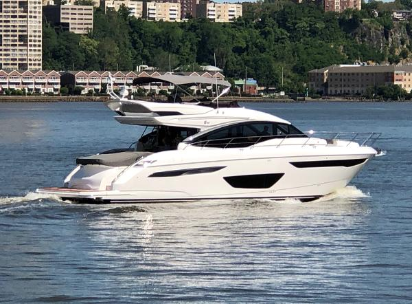 Princess S60 Delivery Up the Hudson River