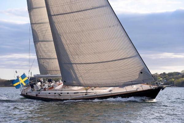 Nautor's Swan 77 Port tack sailing