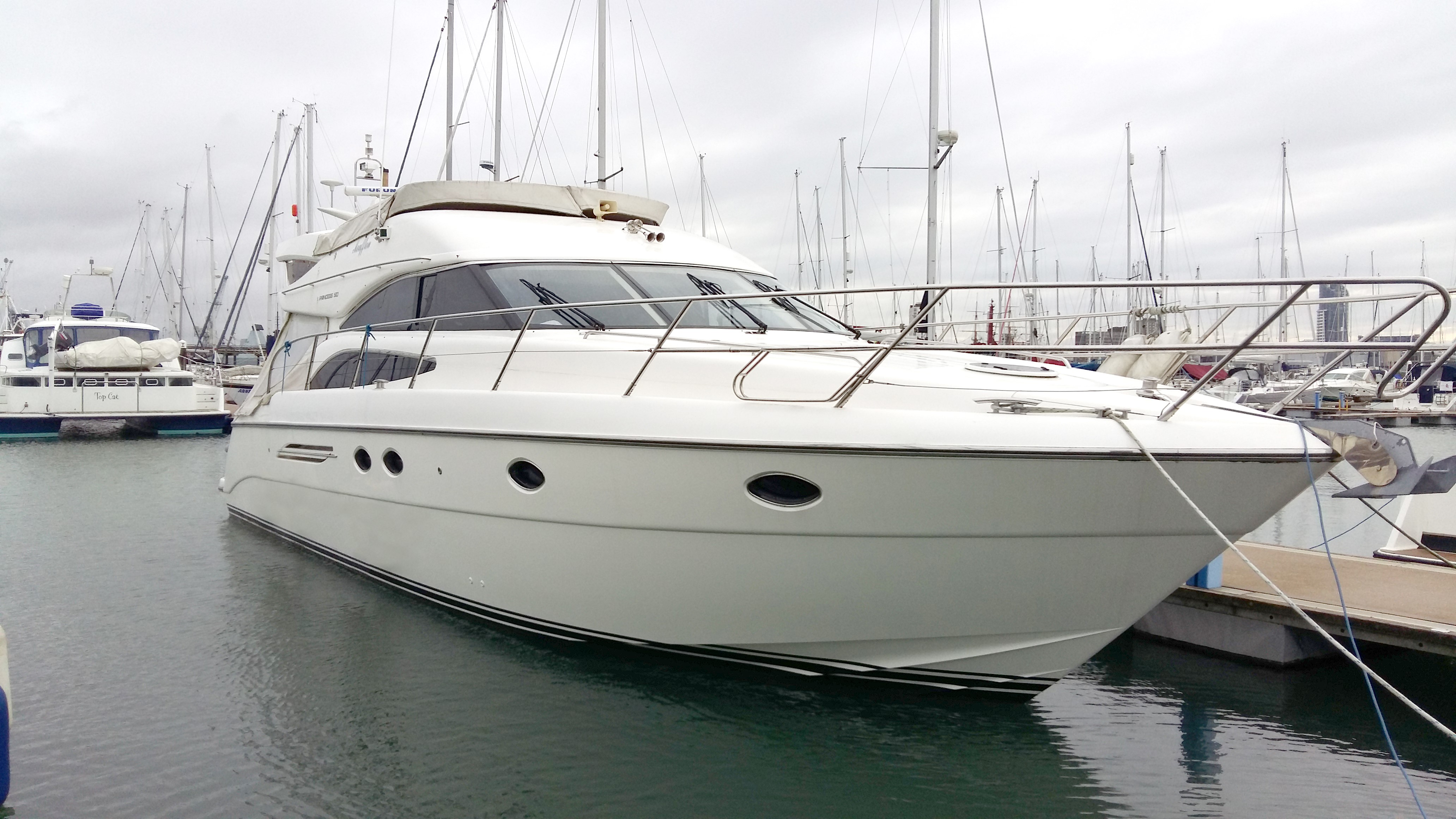 Princess 50 Princess 50 hull profile