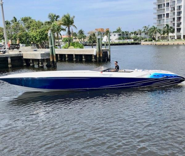 Fountain 42 Executioner - Boat is in Miami Beach