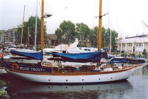 Classic Norman Dallimore 69' ketch Blue Trout