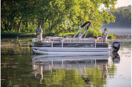 Sun Tracker FISHIN BARGE 20 w/Mercury 90Hp ELPT 4S CT