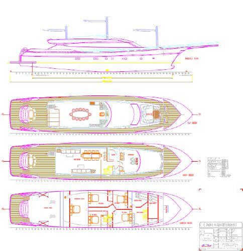 Miss Tor Yacht Schooner 130 Layout