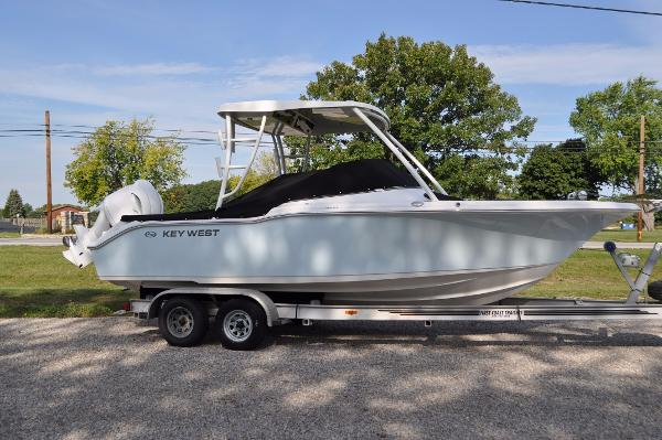 Key West 239 DFS Starboard Side Shown with Optional Trailer
