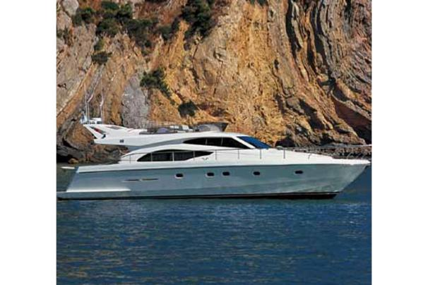 Ferretti Yachts 530 Manufacturer Provided Image: Moored