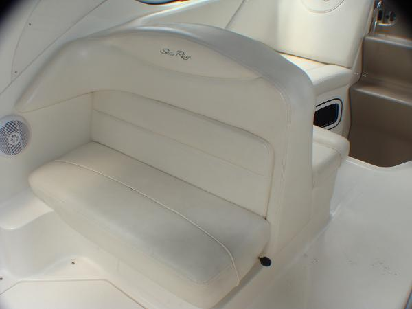 rear facing bench seat in cockpit