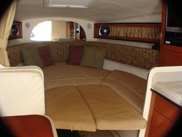 V berth area w/ full cushions