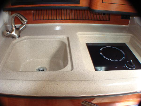 galley sink and cooktop