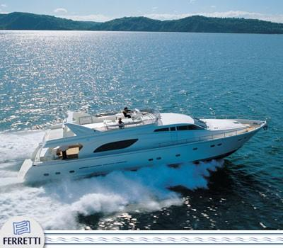 motor boat Ferretti 80 for sale in spain