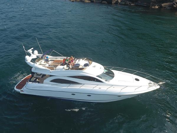Sunseeker Manhattan 56 Manhatten in Northern Ireland waters