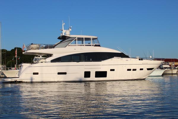 Princess 88 Motor Yacht Starboard Side