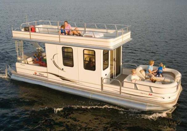 Sun Tracker PARTY CRUISER 32 with NEW Trailer Manufacturer Provided Image