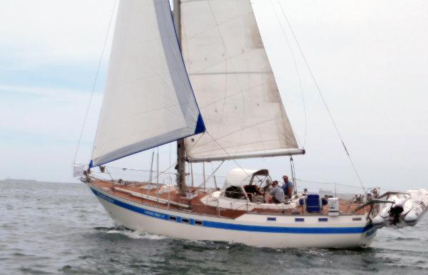 Nautor Swan Motorsailer Under Sail