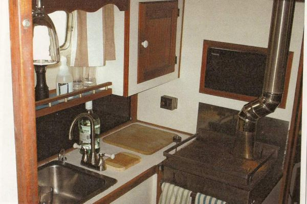 Galley with diesel Stove