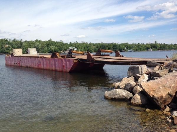 Commercial 60' Steel Barge with Ramp