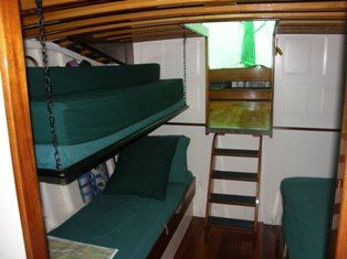 settee convert to 2 bunks