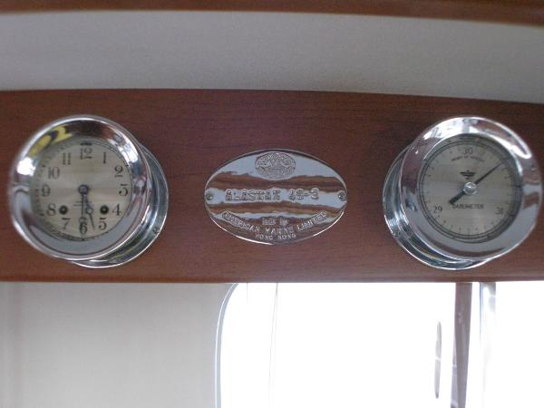 Commissioning Plate w/ Clock and Barometer