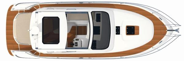 Bavaria Sport 39 HT Upper Deck Layout Plan