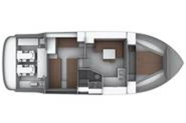 Bavaria Sport 39 Lower Deck Layout plan