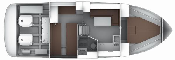 Bavaria Sport 35 HT Lower Deck Layout Plan