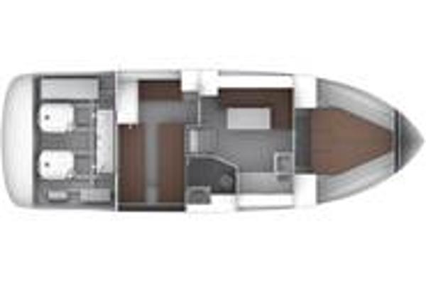 Bavaria Sport 35 Lower Deck Layout Plan