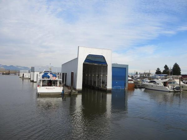 Enclosed Boathouse 80' X 28'  Located Richmond, BC